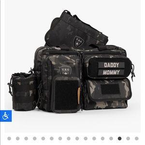 Tactile baby gear diaper bag